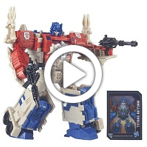 Transformers Generations Titans Return Leader Class Powermaster Optimus Prime and Autobot Apex - 360